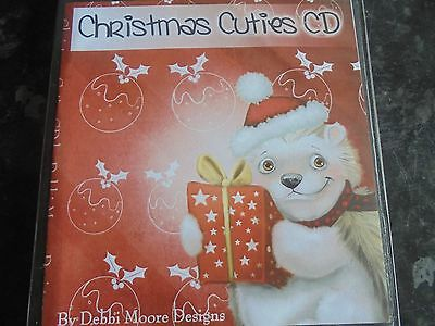 christmas cuties by debbie moore designs, papercraft cd rom,1 disc