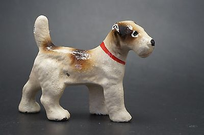 VTG Hubley Cast Iron FOX TERRIER Dog Party Favor Size Jack Russell