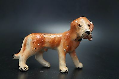 VTG Painted Cast Iron HUBLEY Party Favor BLOODHOUND Hound Dog Childs Toy
