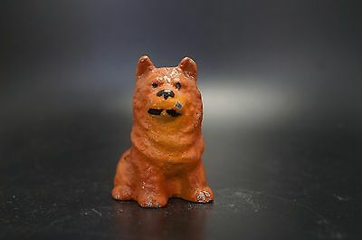 VTG Painted HUBLEY Cast Iron CHOW CHOW Dog Party Favor Childs Toy