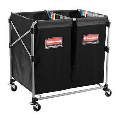 RUBBERMAID COMMERCIAL PRO Multi Stream Collapsible Basket X-Cart, 1881781, Black