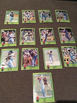 Scanlens 1981-82 World Series Cricket  Cards - India