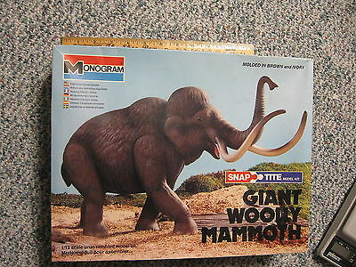 GS Woolly Mammoth Monogram 1979 Model No. 6041 Prehistoric Dinosaur with Box