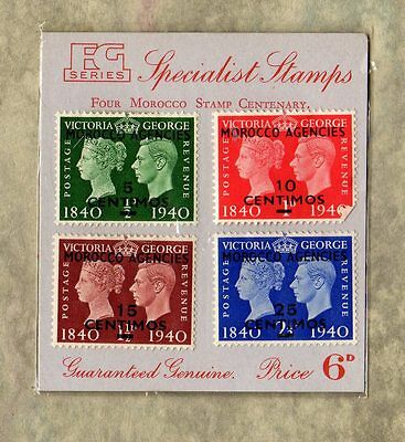 MOROCCO STAMP CENTENARY Four George VI Stamps