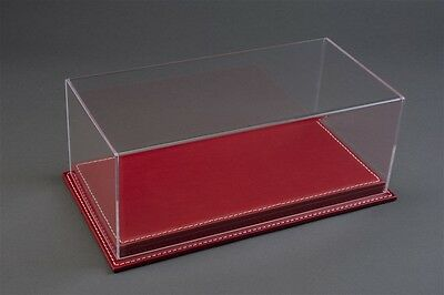 Mulhouse Display Case Vetrina W/ Luxury Red Leather Base for 1:12 Models