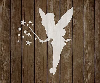 Tinkerbell MYLAR STENCIL bedrooms NURSERIES art 125/190 micron REUSABLE A5/A4/A3