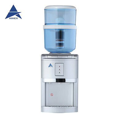 NEW Water Cooler Heater Ambient Awesome H20 Filter Dispenser Silver Bench Top