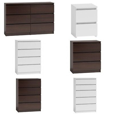 Ikea Style Kullen Chest of Drawers Bedside Table 2 3 4 5 6 White Sonoma Wenge