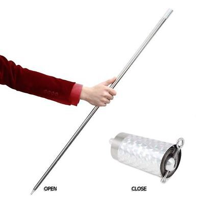 Hiding small metal becomes a 100cm long of hard whiplash rod for self defense