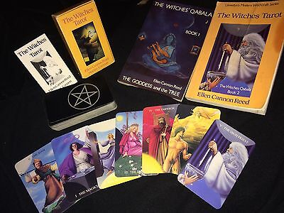 OOP -The Witches Tarot - Ellen Cannon Reed With Witches Qabala Book 1 & 2 - 1989