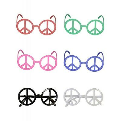 Lunettes hippie peace and love (x6)