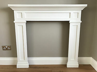 White Hardwood Traditional Fire Surround