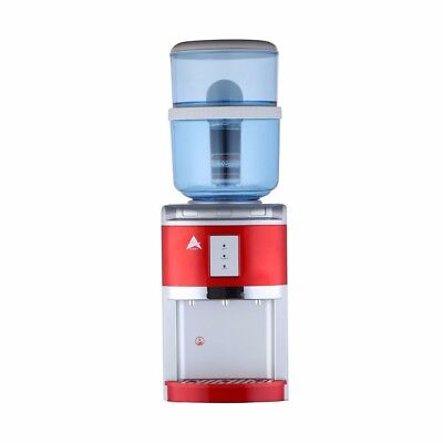 NEW Water Cooler Heater Ambient Awesome H20 Filter Dispenser Red Bench Top
