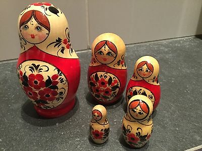 Matryoshka Russian Dolls. Limited edition,hand painted,5 piece.