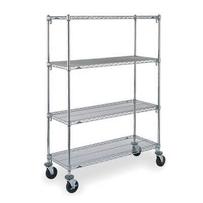 METRO Adjustable Shelf Wire Cart,24 In. W, CART 4B, Silver