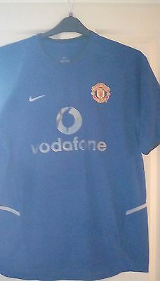 football shirt, blue, Manchester United,Vodafone