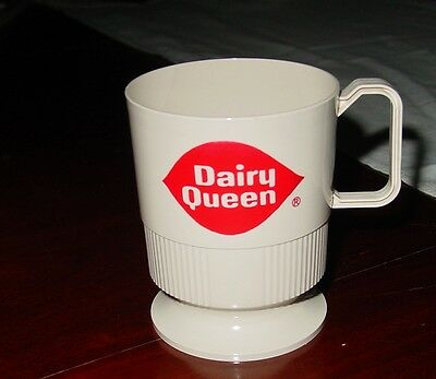 Vintage Plastic Dairy Queen Coffee Mug Cup Sweetheart Advertising Collectible