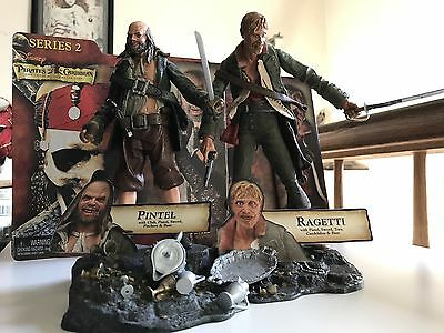 NECA Pirates Of The Caribbean Ragetti And Pintel Action Figures USED