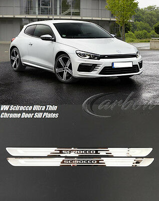 VW Scirocco 2008-2017 Ultra Thin Chrome Stainless Steel Door Sill Scuff Plates