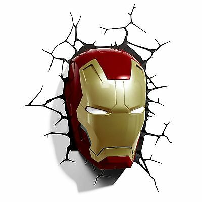 3D Wall Light Deco - Iron Man Mask (r5H)