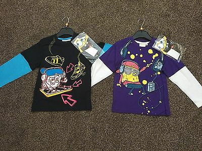 Wholesale Joblot Of 28 X Spongebob Square Pants Official Tshirts - Mixed Ages
