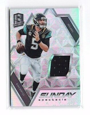 Blake Bortles 2016 Panini Spectra, Sunday Spectacle, (Materials), 189/199 !!