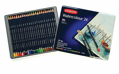 Derwent Watercolour Pencils 24 Tin