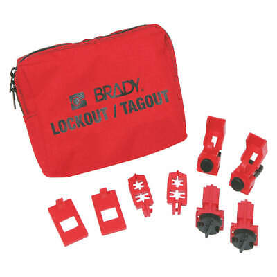 BRADY Portable Lockout Kit,Filled,Electrical,9, 99300, Red