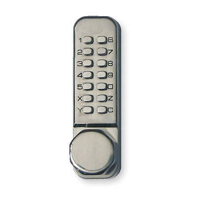 KABA Push Button Lock,Entry,Passage,Stainless, LD4513532D41