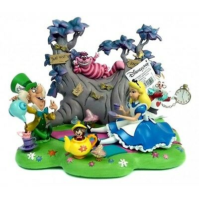 Disneyland Paris Alice in Wonderland Tea Party Diorama Figurine (2377)