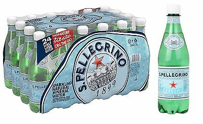 San Pellegrino Natural Sparkling Mineral Water 500ml Pack of 24 Pet Bottles