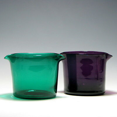 Two Georgian Coloured Glass Wine Rinsers