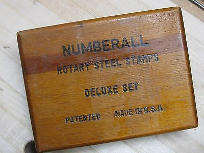Numberall Rotary Steel Stamps Deluxe Set 1/4 inch  - Machinist