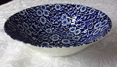 "Burleigh Calico Blue Cereal Bowl Dish 6"" 15cm"