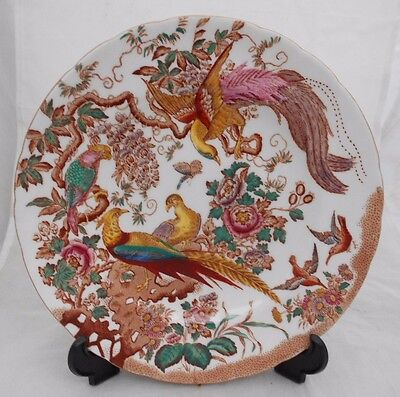 Royal Crown Derby Plate Decorative British China Olde Avesbury Birds