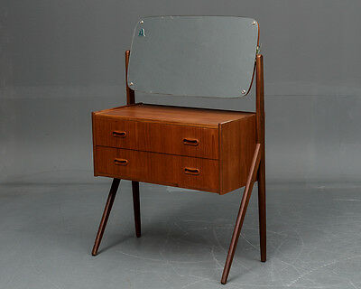 VINTAGE RETRO DANISH TEAK DRESSING TABLE 1960s