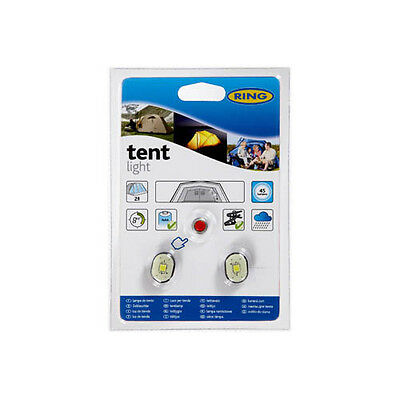 Ring RTL010 2-Person Tent Lights with Switch – 2 LEDs, Complete Wiring and Fitti