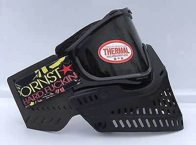 NEW JT Proshield 2.0 Black KM Strap Proflex Ears Thermal Paintball Mask Goggle