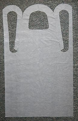 """New 100 Condor Disposable Aprons Embossed White Lightweight 28"""" x 46"""""""