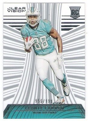 Leonte Carroo 2016 Clear Vision Rc Rookie Acetate Card Numbered 956/999