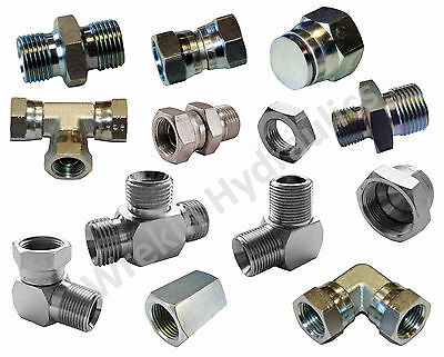 Hydraulic Fittings BSPP Male & Female *BSP Elbow~Straight~Tee~Swivel~Fixed~Oil*