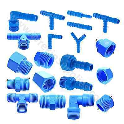 TEFEN Hose Tail Connectors Hose Adaptors Nylon Pipe Tube Joiners Pipe Fittings