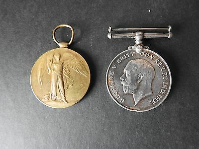 Ww1Medal Pair To Durham Light Infantry