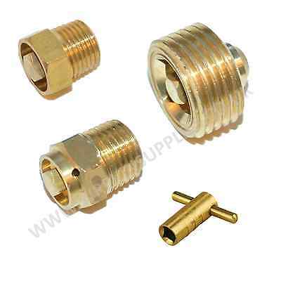 Radiator Bleed Valve or Key Quality Brass 10mm 13mm 21mm BSP Plumbing Tool Air