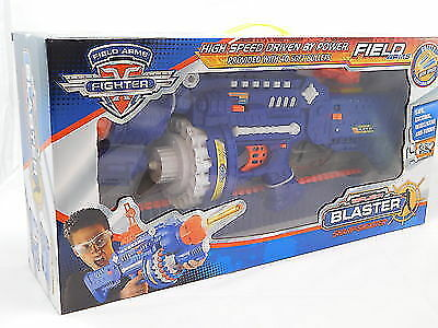 Super Blaster Nerf Style Rapid Fire Gun With 40 Soft Darts And Safety Glasses