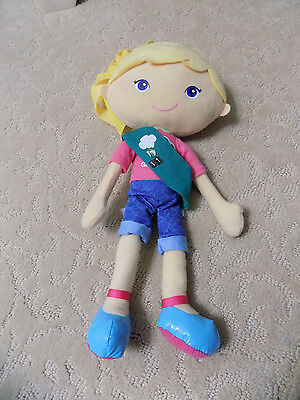 Girls Scout CHLOE Friendship Rag Big Head Doll Blonde w/ Sash Badge Plush Toy 71