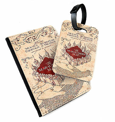 Marauders Map   Printed Passport Cover & Luggage Tag   Potter Hogwarts Harry
