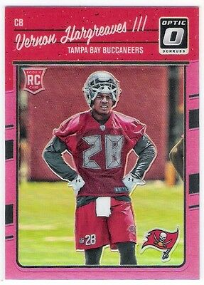 Vernon Hargreaves 111 2016 Donruss Optic O Pink Parallel Rc Rookie Card
