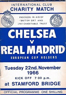 Chelsea V Real Madrid International Charity Match 22/11/66