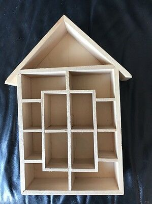 Wooden Thimble  whimsy Display Rack Holds  15 Different Size Sections